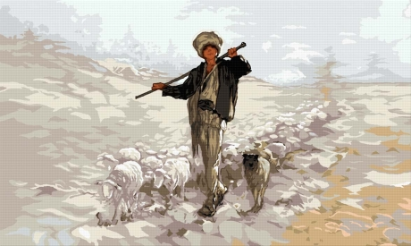 Ciobănaş cu oi