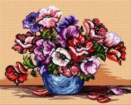 Vază cu anemone
