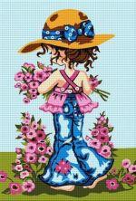 Fetiță cu flori