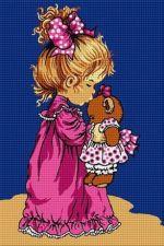 Fetiță cu ursuleț