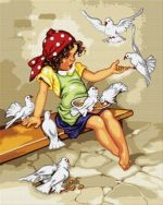 Fetiţa cu porumbei