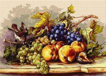 Natură moartă cu fructe și pasăre
