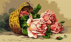 Coş cu trandafiri roz
