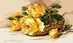 Coş cu trandafiri galbeni
