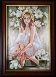 Femeia cu magnolii