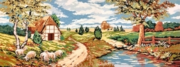 Peisaj cu oi