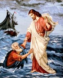 Petru și Isus pe mare