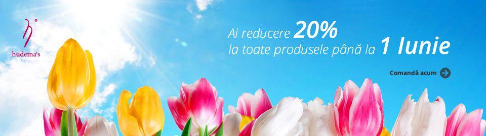20% reducere la toate produsele, până la 1 iunie 2016