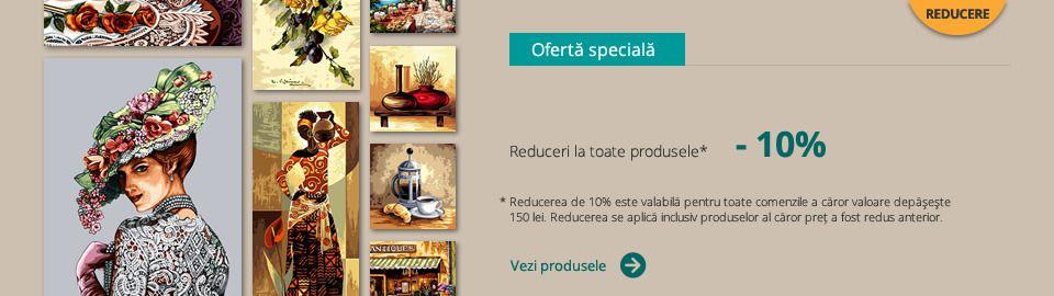 Reducere 10% la toate produsele